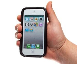 Zwarte waterdichte softcase voor iPhone 5 5C en 5S QF-3298